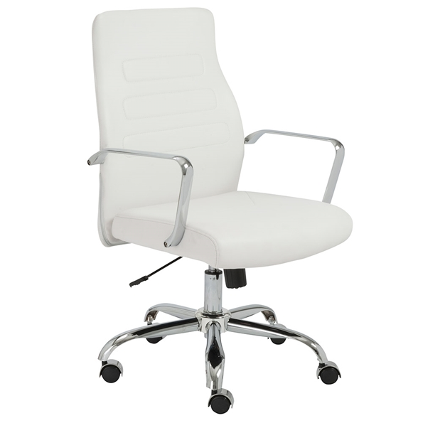 Euro Style Fenella Modern White Office Chair