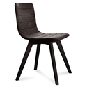 Feodor Anthracite + Brown Modern Side Chair