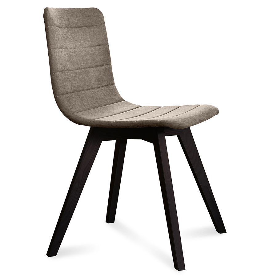 Feodor Anthracite + Tan Modern Dining Chair