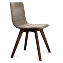Feodor Chocolate + Tan Modern Dining Chair