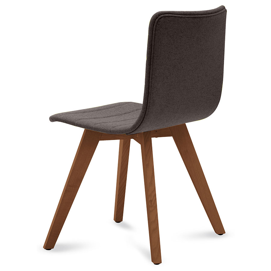 Feodor Walnut + Brown Contemporary Dining Chair
