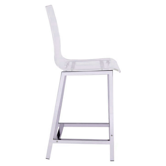 Ferguson Modern Clear Counter Stool - Side View