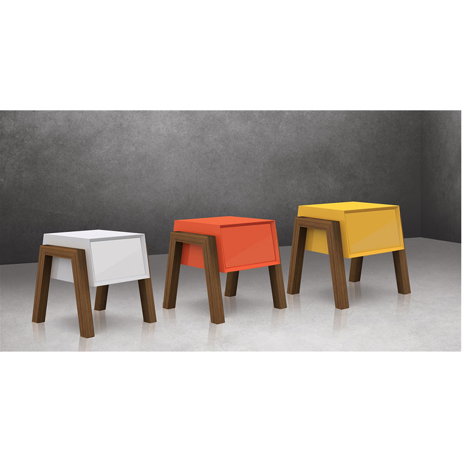 Modern Bedroom End Tables figaro yellow modern nightstand + end table | eurway