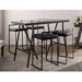 Finland Modern Black Counter Height Stackable Stools