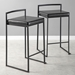 Finland Contemporary Stackable Black Counter Stools