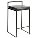 Finland Modern Black Stacking Counter Stool