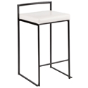 Finland Modern Black + White Stacking Counter Stool
