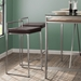 Finland Modern Stainless + Brown Counter Stools