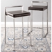 Finland Stainless + Brown Counter Stools