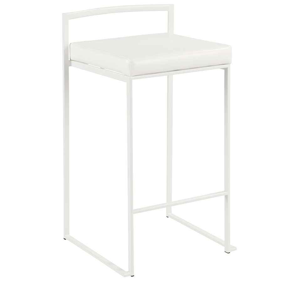 Finland Modern White Stacking Counter Stool