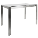 Finland Clear Glass Modern Counter Table