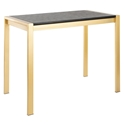 Finland Black Wood + Gold Modern Counter Table