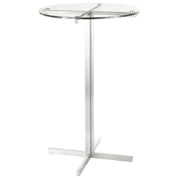 Finland Modern Round Glass Top Bar Table