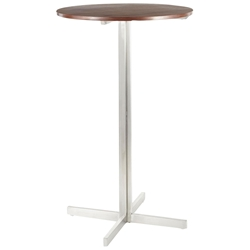 Finland Walnut Modern Round Bar Table