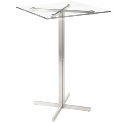 Finland Modern Square Glass Top Bar Table