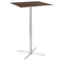 Finland Walnut Modern Square Bar Table
