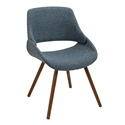 Finley Blue Modern Side Chair