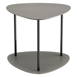 Finsbury Acier Wood + Polished Onyx Steel Modern Side Table by Modloft Black
