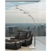 Five Arm Modern Floor Lamp in Chrome and Marble