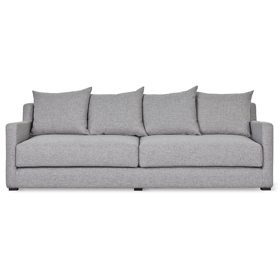 Modern leather sofa bed - Gus Modern Flipside Sofa Bed In Parliament Stone Fabric