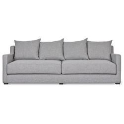 Gus* Modern Flipside Sofa Bed in Parliament Stone Fabric
