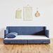 Gus* Modern Flipside Sofa Bed in Chelsea Pacific Fabric Upholstery