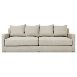 Gus* Modern Flipside Sofabed in Leaside Driftwood Fabric Upholstery