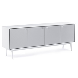 BDI Flo Modern Media Console in Satin White