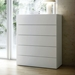 Float White Contemporary Chest Room