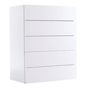 Float White Contemporary Chest