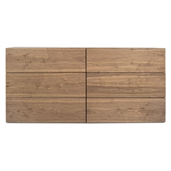 Float Walnut Contemporary Dresser