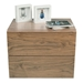 Float Walnut Contemporary Nightstand Front