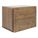 Float Walnut Contemporary Nightstand