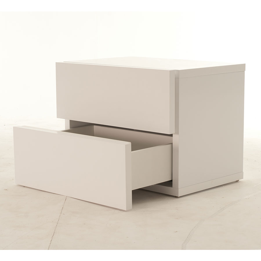 Float White Contemporary Nightstand Floor
