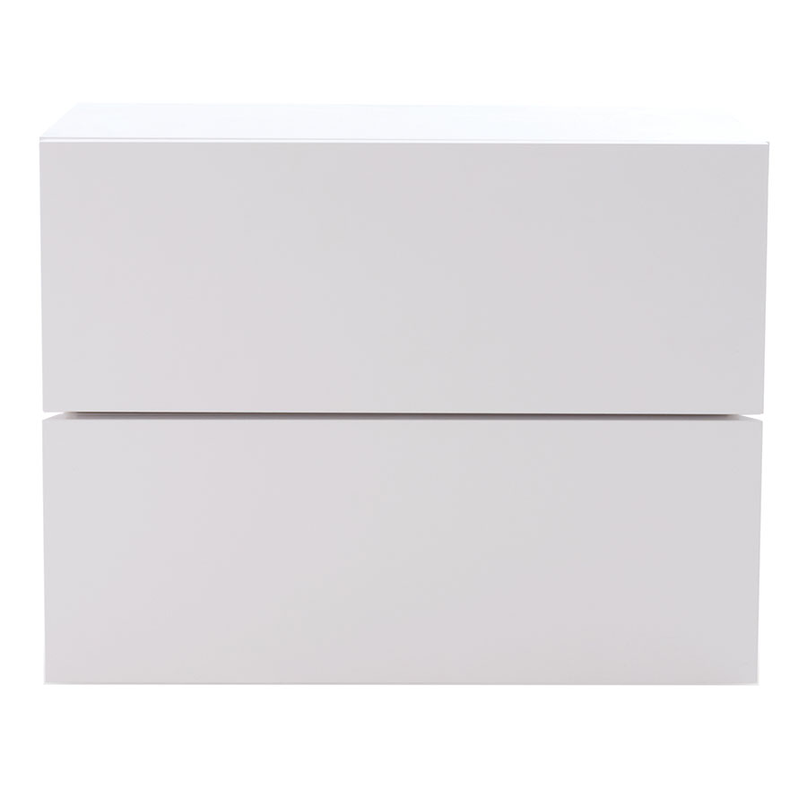 Float White Contemporary Nightstand Front