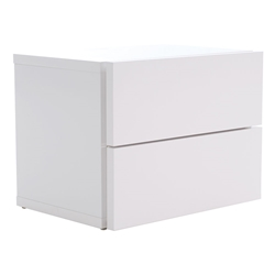 Float White Contemporary Nightstand by TemaHome