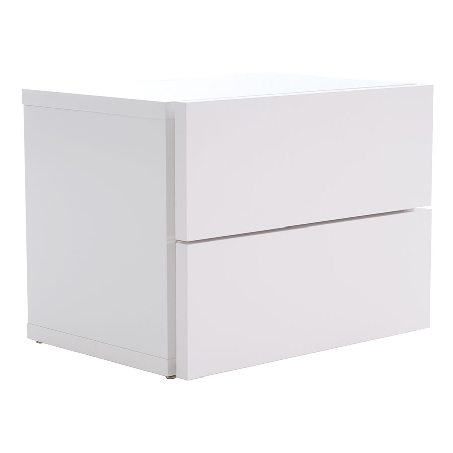Float White Contemporary Nightstand