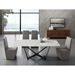 Florstadt White Marble + Black Steel Rectangular Glass Modern Dining Table - Room Shot