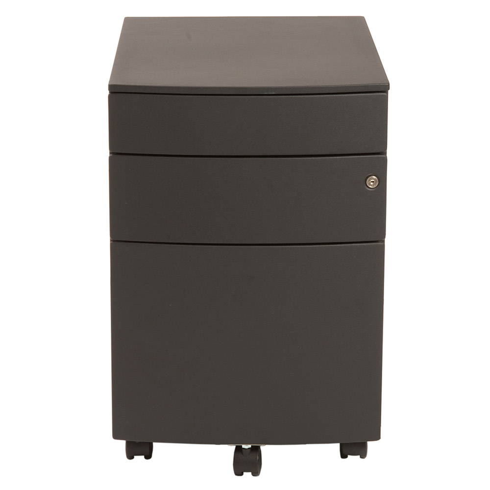 Floyd Modern Black Mobile File Cabinet