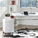Euro Style Floyd Modern White Mobile File Cabinet