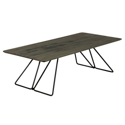 Flynn Modern Cocktail Table in Nantucket Finish by Saloom