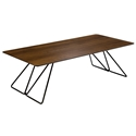 Flynn Modern Cocktail Table in Walnut by Saloom