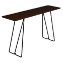 Flynn Modern Console Table in Walnut by Saloom