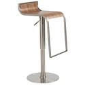 Foley Adjustable Bar Stool in Walnut