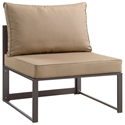 Fontana Brown + Mocha Modern Outdoor Armless Chair