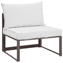 Fontana Brown + White Modern Outdoor Armless Chair