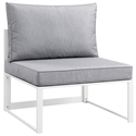 Fontana White + Gray Modern Armless Outdoor Chairs