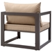 Fontana Brown + Mocha Modern Outdoor Chair - Back View