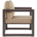 Fontana Brown + Mocha Modern Outdoor Chair - Side View