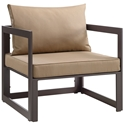 Fontana Brown + Mocha Modern Outdoor Chair
